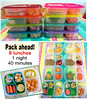 Pack lunches once for the whole week!
