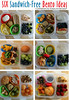 6 lunches without sandwiches