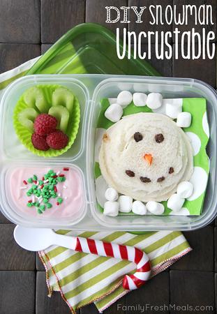 Snowman Lunchable