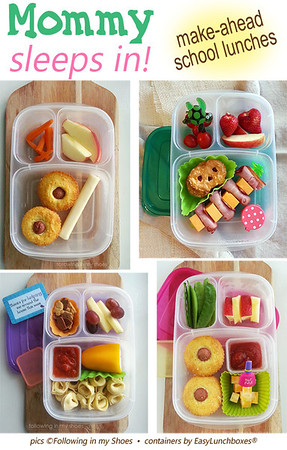 Make lunches ahead and get some extra sleep!