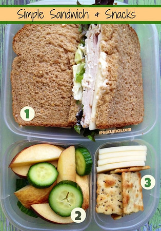 turkey and cheese sandwich packed for lunch
