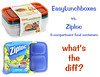 How do Ziplocs compare with EasyLunchboxes?