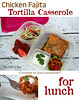 "Chicken Fajita Tortilla Casserole in a lunchbox. Yummy work lunch made even more delish with organic RW Garcia Tortilla Chips. From The Roxx Box. DETAILS ► <a href=""http://bit.ly/1czvt0A"">http://bit.ly/1czvt0A</a>"