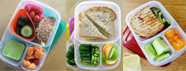 3 lunches packed in EasyLunchboxes