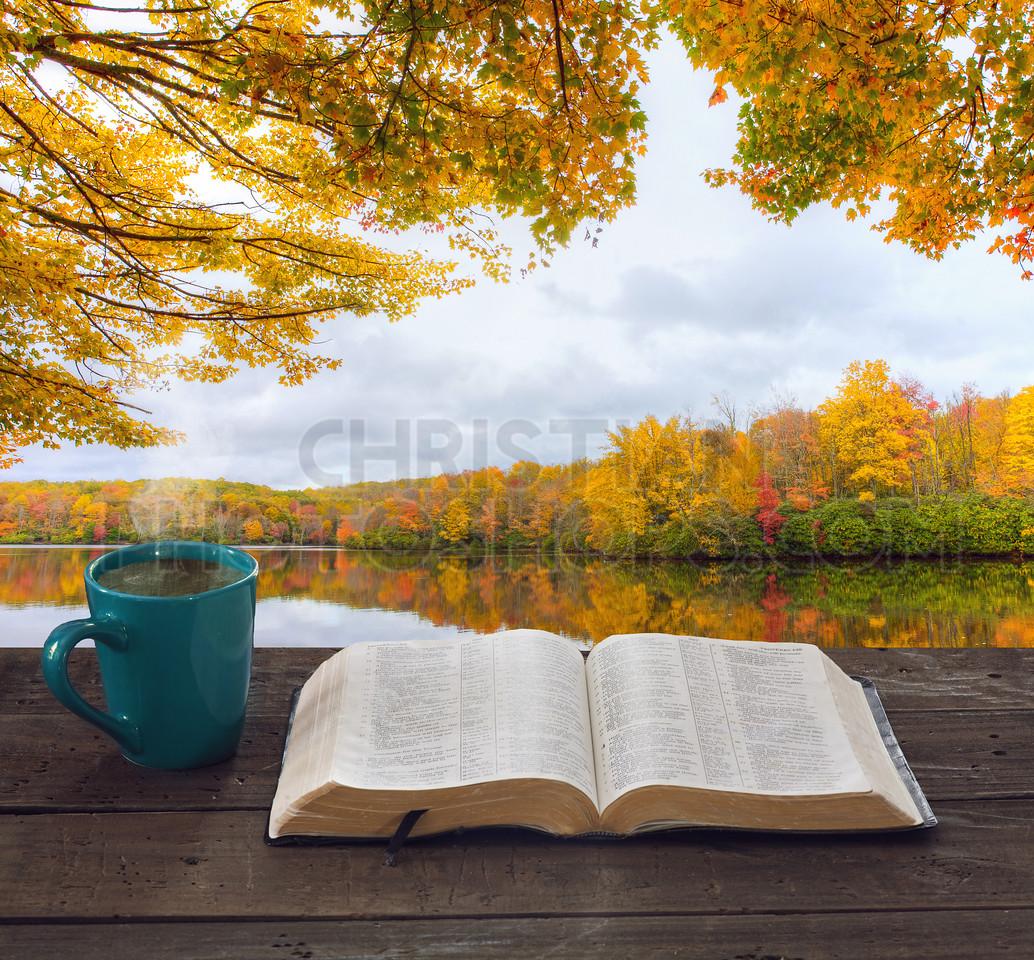 Bible and lake