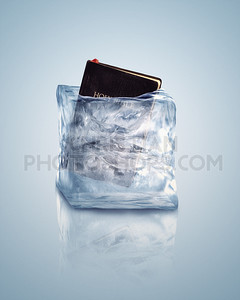 Bible in ice