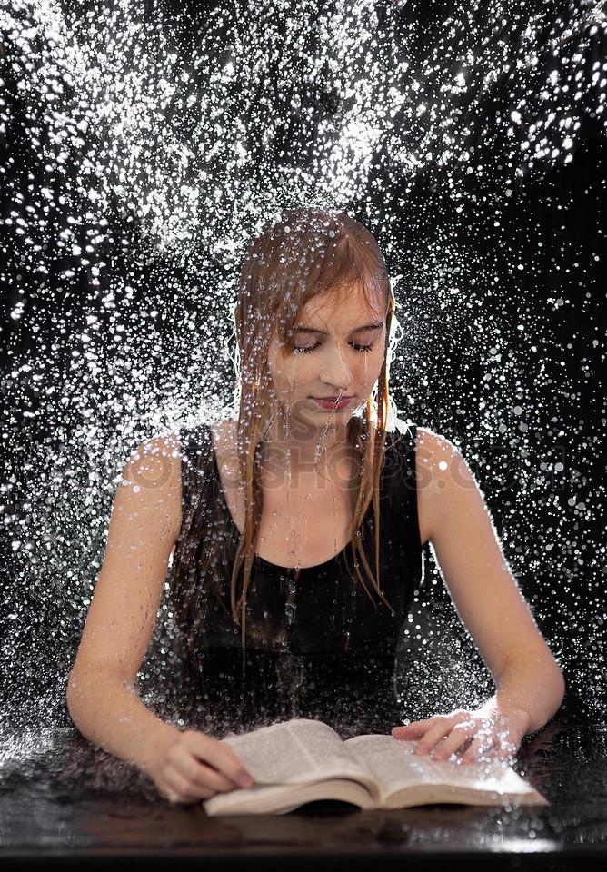 Bible reading in the rain