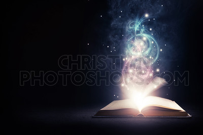 Glowing Book with colors