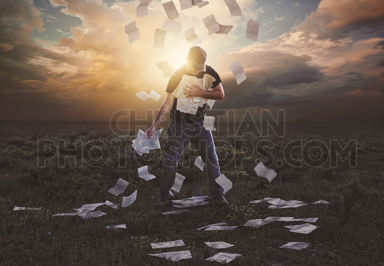 Clinging on to falling papers