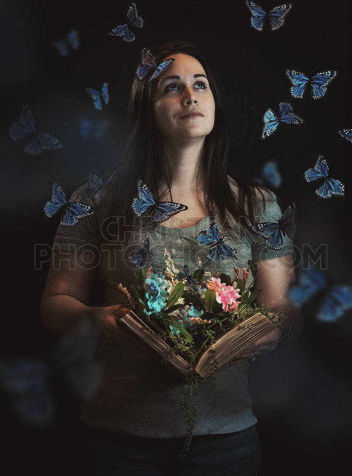 Butterflies coming from book