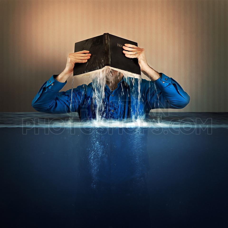 Bible flood waters