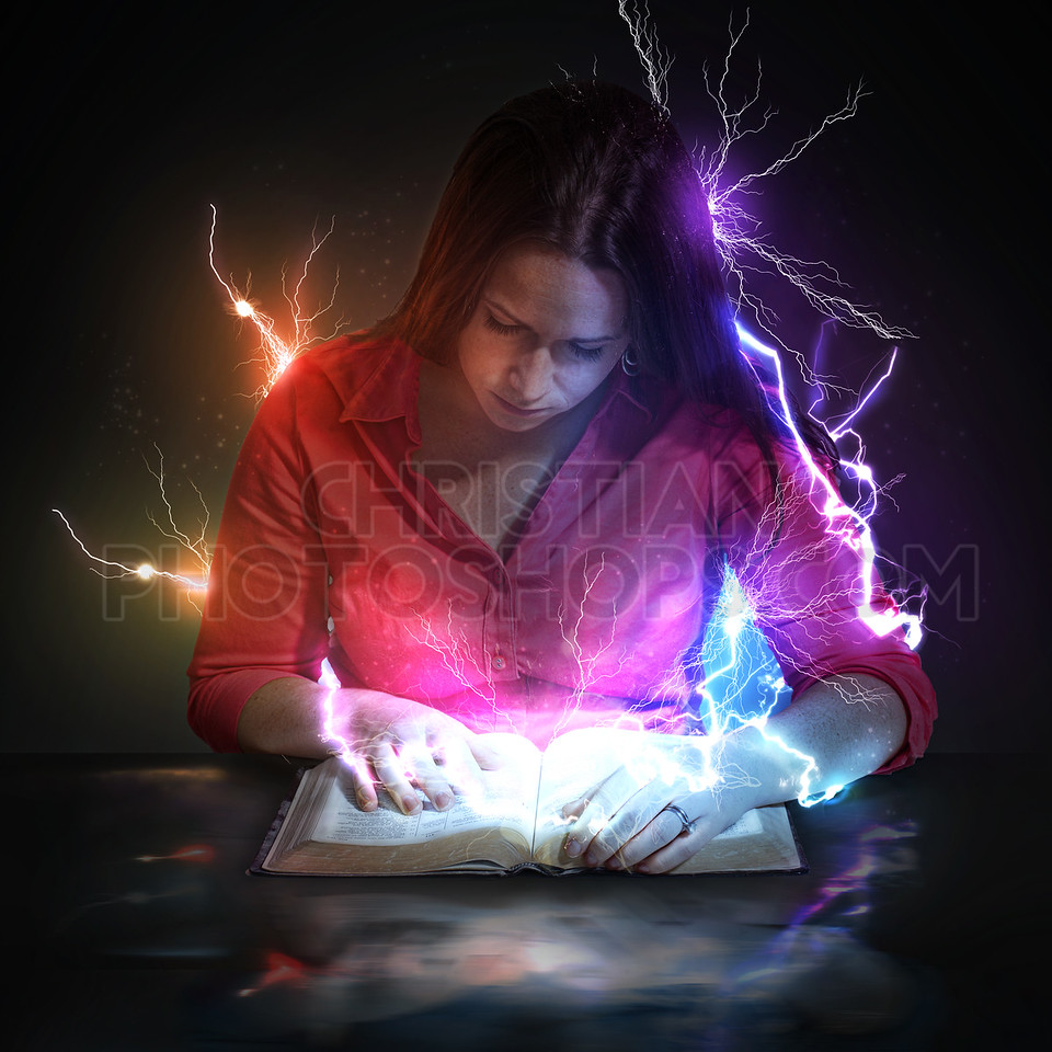 Lightning strikes from Bible