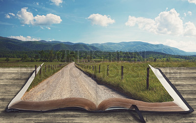 Open book landscape