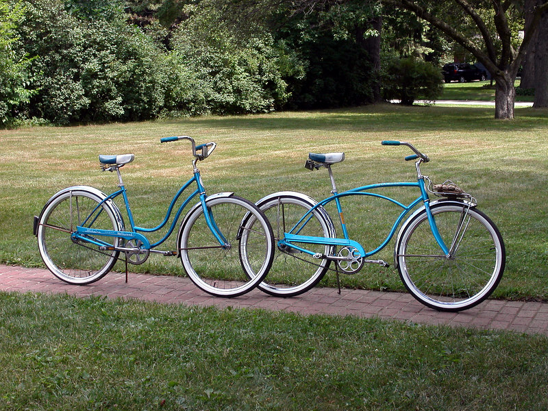 """The Twin Schwinn's"" - 1968 boy's Typhoon DeLuxe and girl's Hollywood"