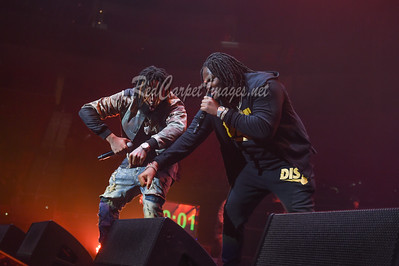 DETROIT, MI - DECEMBER 28:  Tee Grizzley and Sada Baby perform on stage at The Big Show at Little Caesars Arena on December 21, 2017 in Detroit, Michigan. (Photo by: Aaron J. / RedCarpetImages.net)