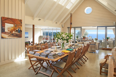 The Boatshed - guest living spaces leading to decks