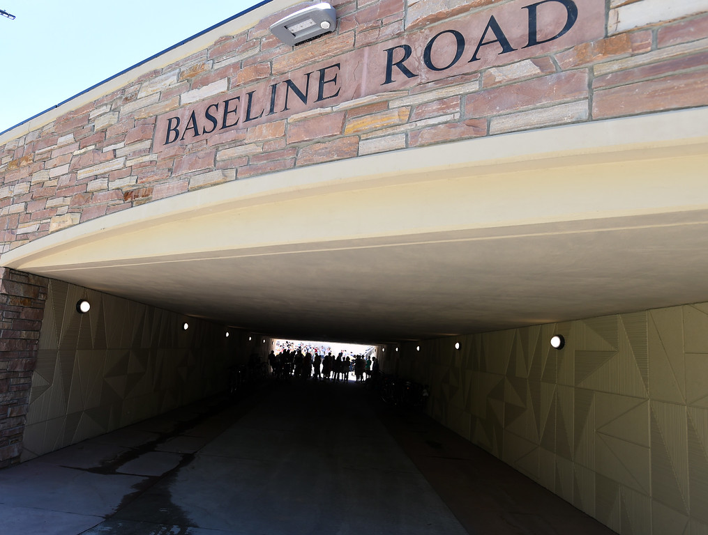 . The CU campus end of the underpass. The Boulder Bike Underpass Choir performed at the Baseline Road Underpass Opening on Thursday. For more photos and a video, go to www.dailycamera.com.  Cliff Grassmick  Staff Photographer June 15, 2017