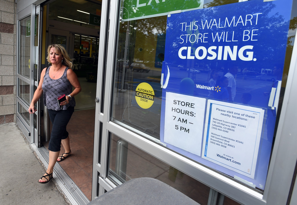 . Meshja Carpenter ran in the Walmart Neighborhood Market in Boulder, only to find it virtually empty. The store closes today (Friday).  For more photos and a video, go to www.dailycamera.com.  Cliff Grassmick  Staff Photographer June 16, 2017