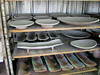 All of these trays and platters are glazed and awaiting the wood kiln.