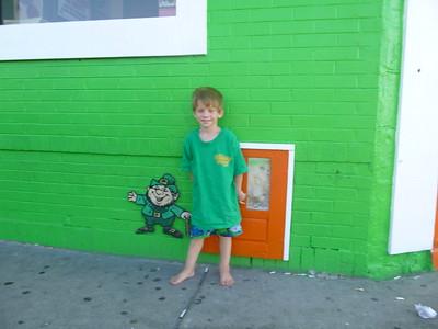 2012-06-14 Devin and Leprechaun Door 2012