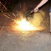 Mom running away fomr the fireworks