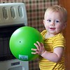 Nolan with his green ball