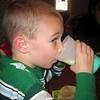 "Koben drinking his ""green"" milk"