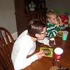 Koben and Mom enjoying some cupcakes
