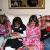 Quin, Carley, Hayden and Koben with their DS's, all chatting with each other