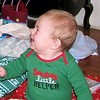 He is so happy that Santa left him some presents