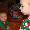 Koben is looking for more presents and Nolan is looking for the camera