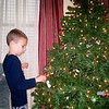 Koben decorating the boys' tree