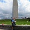 The boys in front of the Washington Monument
