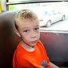 On the bus and ready to go