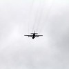 One of the many planes flying into Erie International