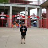 At the entrance to the ball park