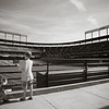 The boys checking out the field at Camden Yards