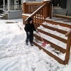 thanks again for cleaning off the steps