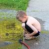 Watching his whirlpool