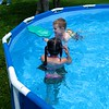 Koben and Hayden swimming around
