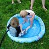 Nolan splashing around