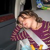 Sleeping on the ride home