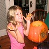 Quin with some pumpkin guts
