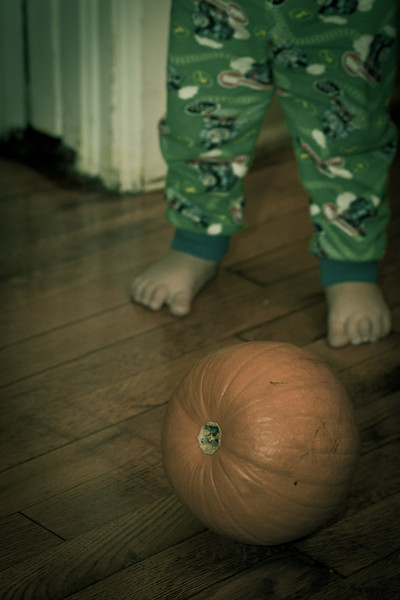 Look out pumpkin! Here comes Nolan.