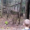 Big rocks were even down in the woods