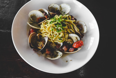 HOME-MADE Linguine + Florida Clams
