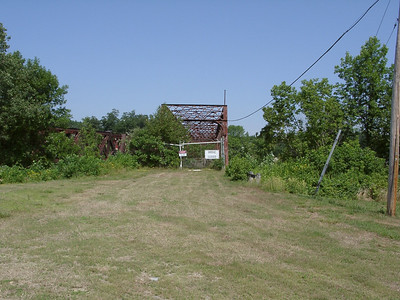 The approach to the bridge from the north. Not much of the original Main Street remains.