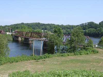 The Lilac Bridge as seen from Main Street, on the approach to the current, much higher bridge.