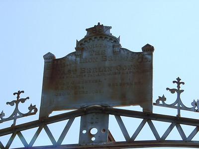 The older a bridge is, the more ornate it is. This is the surviving ID plate.