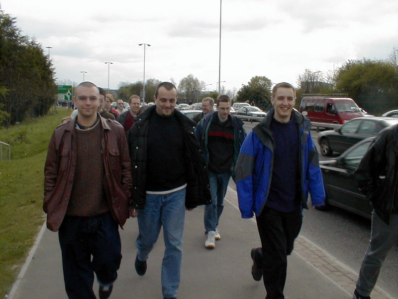 Walking to the Match in Reading